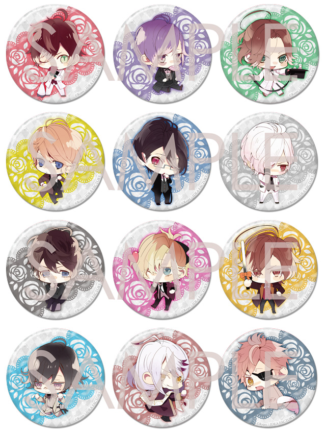 DIABOLIK LOVERS BLOODY BOUQUET ビッグ缶バッジ2015 vol.2