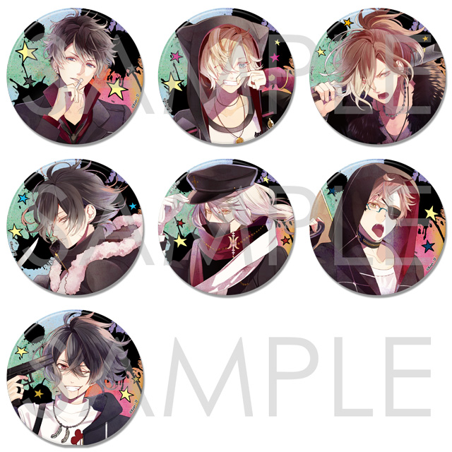 DIABOLIK LOVERS Bloody Villain ビッグ缶バッジ Type B