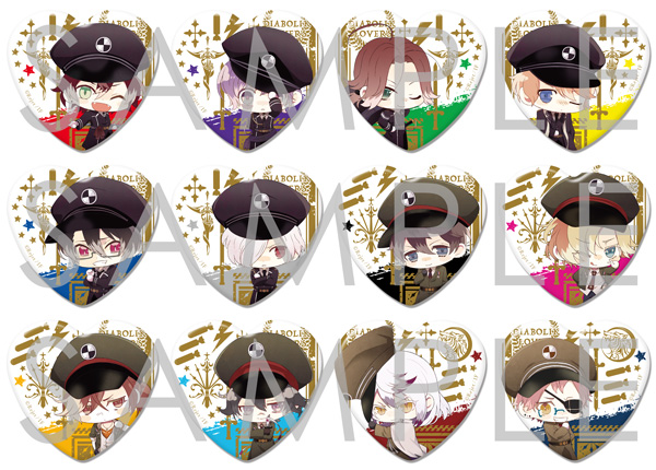 【50%OFF_SUMMER_SALE_2017】【SKiT Dolce限定】DIABOLIK LOVERS ハート型缶バッジ