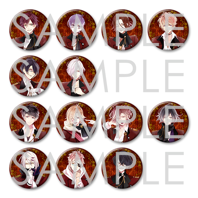 DIABOLIK LOVERS LOST EDEN ビッグ缶バッジ 2016 Vol.1