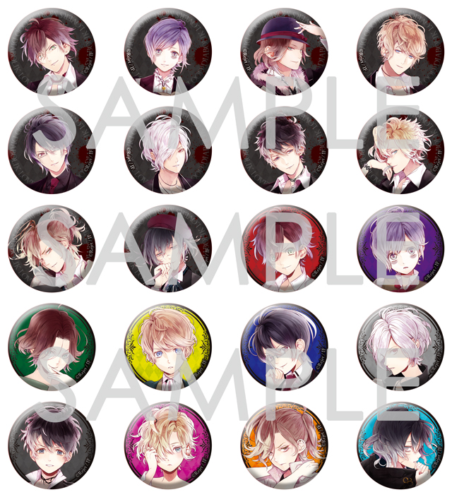 DIABOLIK LOVERS MORE,BLOOD 缶バッジ2014 vol.1